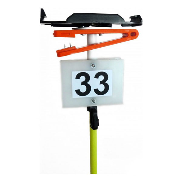 Piquet ultra-léger - 1 pince + support SI + plaque
